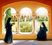Монахини аббатства Нотр-Дам де л'Аннонсиатьон