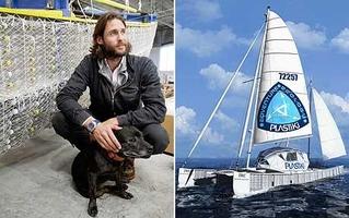 Британский миллиардер переплыл океан на катамаране из бутылок