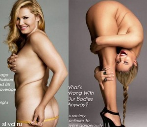Русская модель Екатерина Жаркова 50-го размера недавно разделась для журнала PLUS Model Magazine