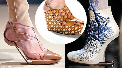 Модные туфли весна–лето 2012