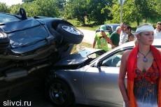 Настя Волочкова попала в аварию