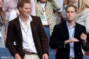 Гарри и Уильям зажгли на свадьбе лучшего друга