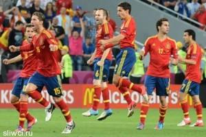 В самолет сборной Испании по футболу ударила молния
