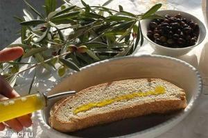 Хлеб и оливковое масло - идеальное сочетание